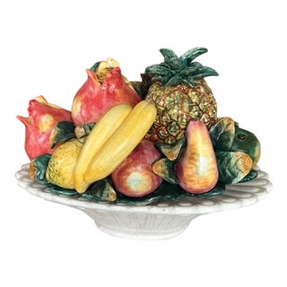 Traditional Ceramic Fruit in Bowl Decoration