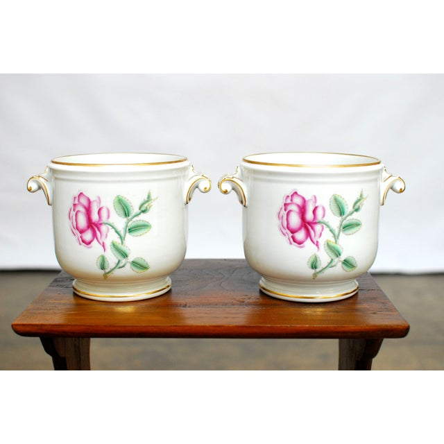 Richard Ginori Italian Cache Pots - A Pair - Image 2 of 5