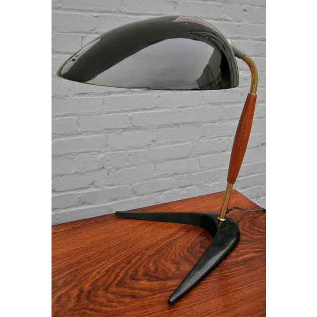 Mid 20th Century Lightolier Black Metal Desk Lamp For Sale - Image 5 of 6