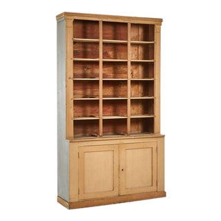 1790s French Directoire Era Bookcase with Lower Cabinet For Sale