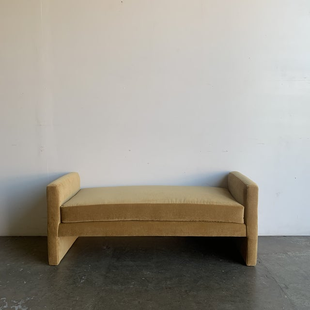 Post Modern Bench- Mustard For Sale - Image 13 of 13