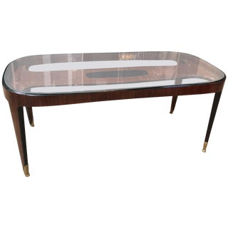 Midcentury Dining Table in Cherrywood by Paolo Buffa for Arrighi, Italy, 1940s For Sale