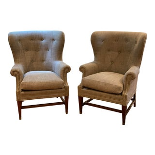 Lillian August Wingback Chairs - a Pair For Sale