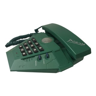 1980s Modern Bauhaus Picasso Brand Geo Tabletop Telephone For Sale