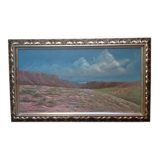 Vintage Mid-Century B. Denham California Landscape Painting For Sale