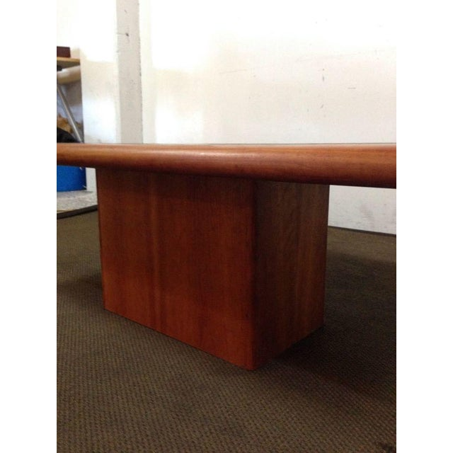 Mid-Century Carved Walnut Coffee Table - Image 4 of 5