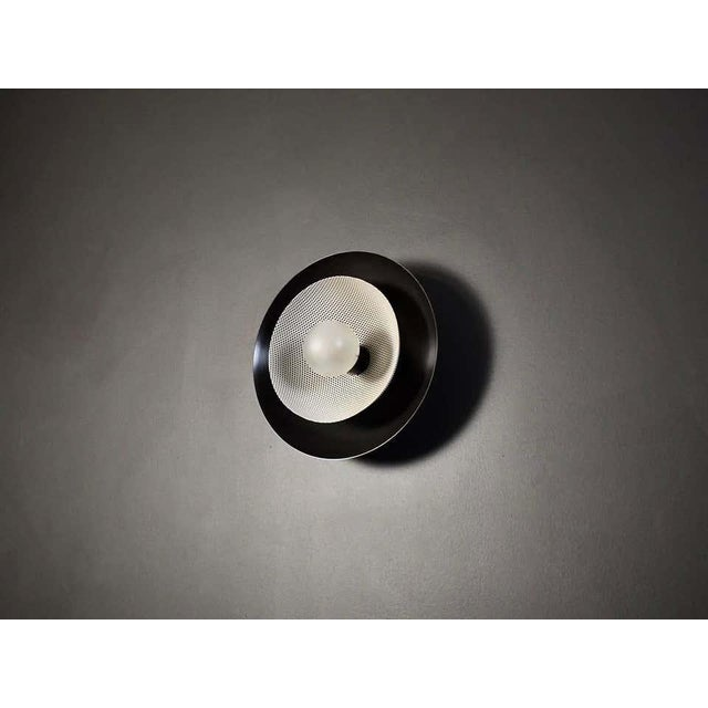 Not Yet Made - Made To Order Centric Wall Sconce in Oil-Rubbed Bronze & White Enamel Mesh, Blueprint Lighting For Sale - Image 5 of 7