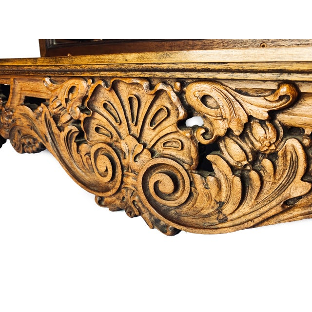 1900s 1900s Victorian Hand Crafted Wooden Shelf With Mirrored Back For Sale - Image 5 of 6