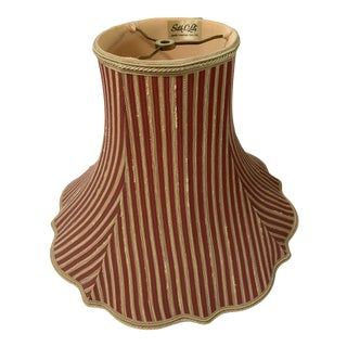 French Paris Silk Vintage Stripe Shade For Sale