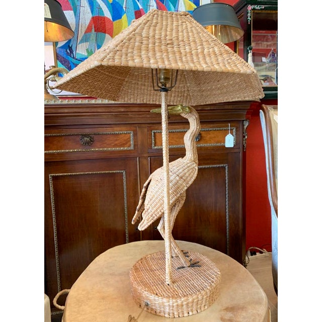 Late 20th Century Vintage Mario Lopes Torres Large Egret Lamp For Sale - Image 5 of 11