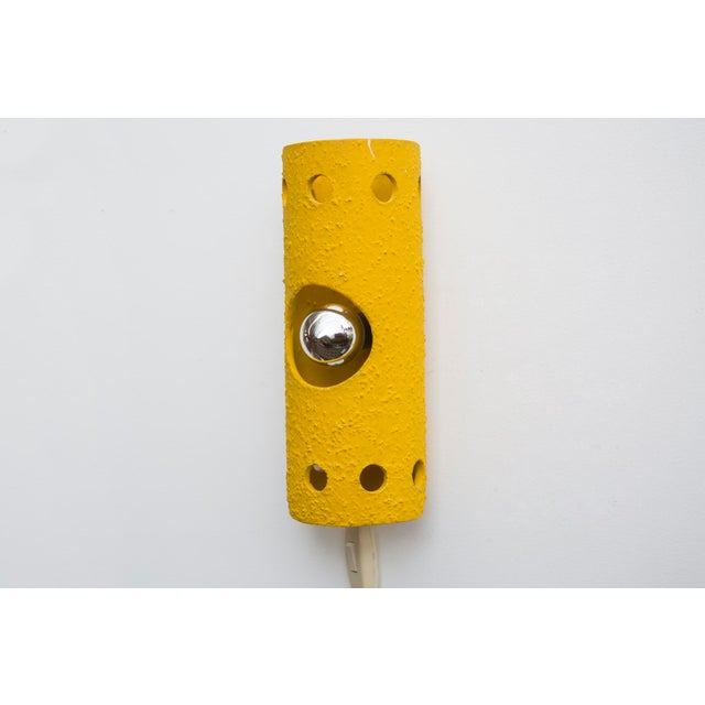 Yellow Ceramic Wall Sconce - Image 3 of 7