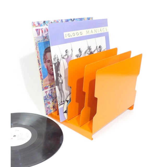 Orange Metal Desk Organizer - Image 5 of 9