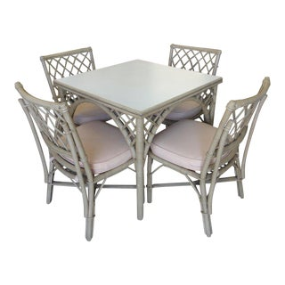 Ficks Reed Rattan Table & 4 Chairs