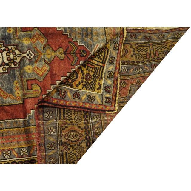 """Vintage Turkish Oushak Rug - 4'10"""" x 11'10"""" For Sale - Image 4 of 4"""