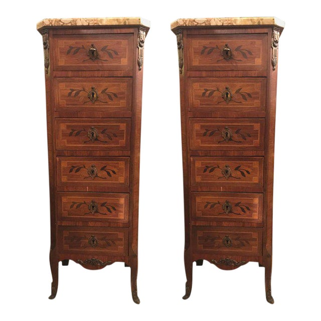 19th Century Louis XV Style Lingerie Chests - A Pair For Sale - Image 12 of 12