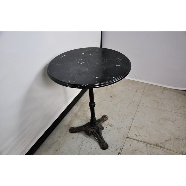 Italian Black Marble Bistro Table For Sale In New York - Image 6 of 13