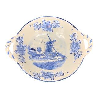 Vintage Delft Blue Ceramic Catchall For Sale