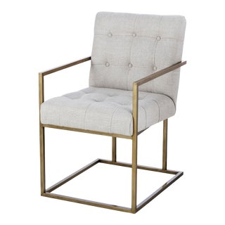 Century Furniture Kendall Metal Arm Chair For Sale
