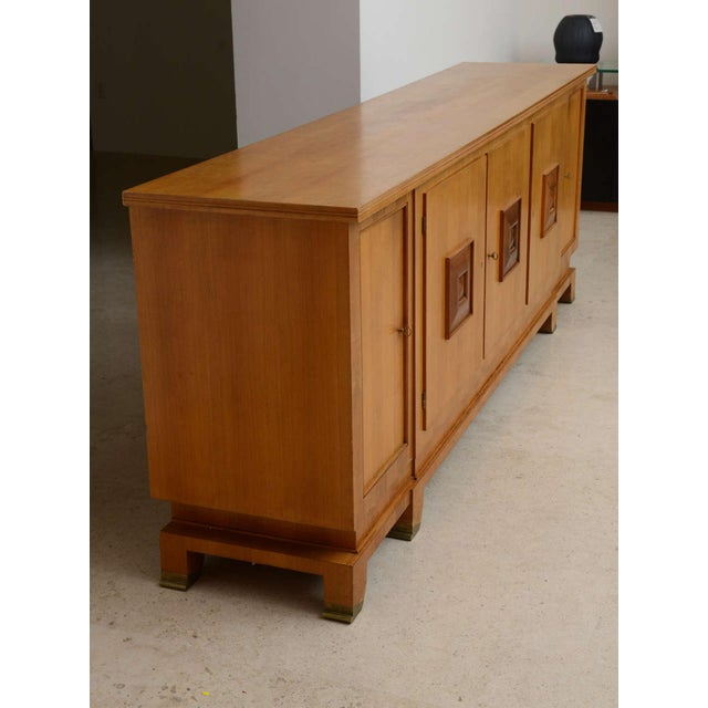 Fine French Modern Fruitwood Sideboard or Buffet by Jules Leleu For Sale In Miami - Image 6 of 9