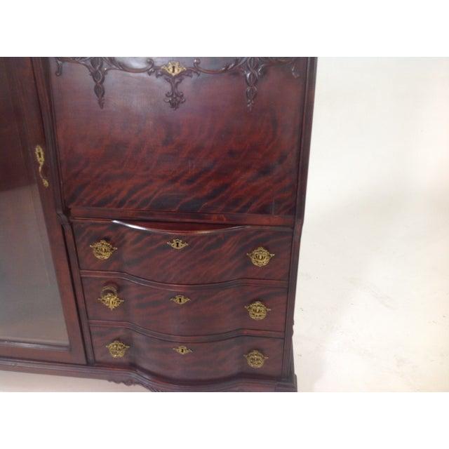 Antique Mahogany Victorian Curio/Desk - Image 7 of 9