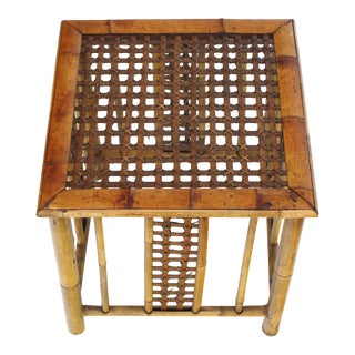 Square Bamboo Occasional Side End Table For Sale