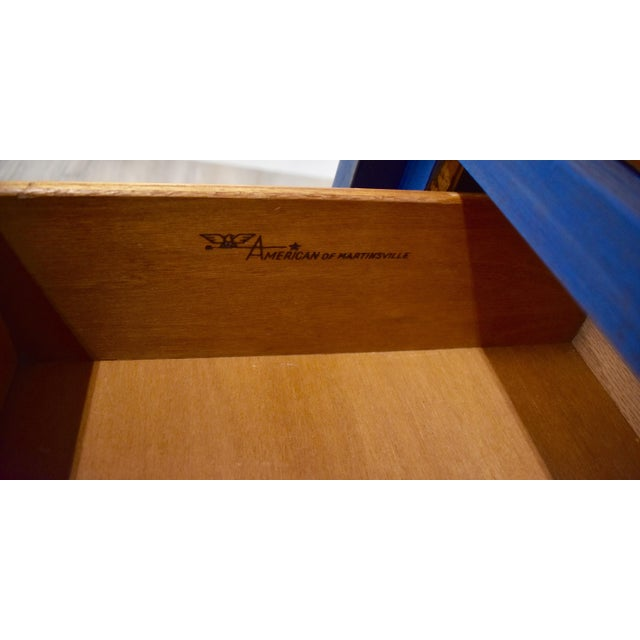 Blue Mid-Century Gentleman's Chest - Image 11 of 11