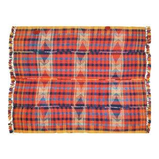 "Vintage Turkish Anatolian Hand Made Organic Wool Tribal Kilim,5'3""x6'10"" For Sale"