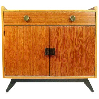 Paul Frankl Combed Wood Cabinet for Brown Saltman For Sale