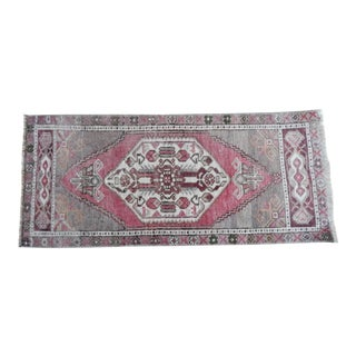 HandMade Doormat, Entryway Rug, Bath Mat, Kitchen Decor, Small Turkish Rug 1′6″ × 3′6″ For Sale