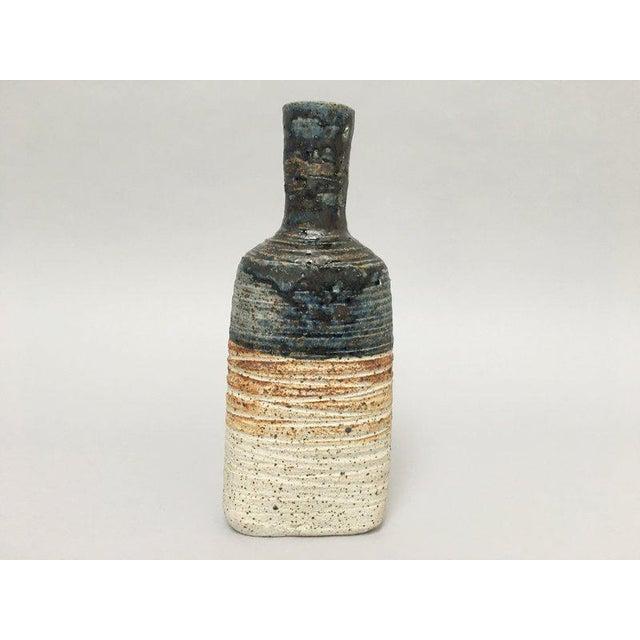 Tue Poulsen Danish Modern Stoneware Studio Pottery Bottle Vase For Sale - Image 9 of 9