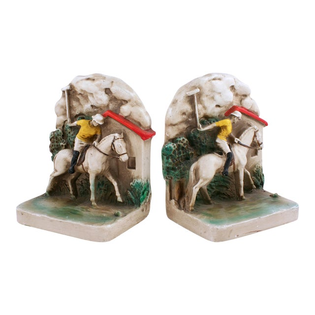 1930s Newport Polo Bookends - A Pair - Image 1 of 3