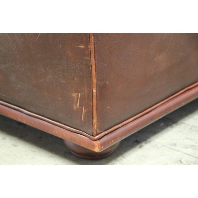 Vintage Ralph Lauren Leather Floating Sofa For Sale - Image 11 of 13
