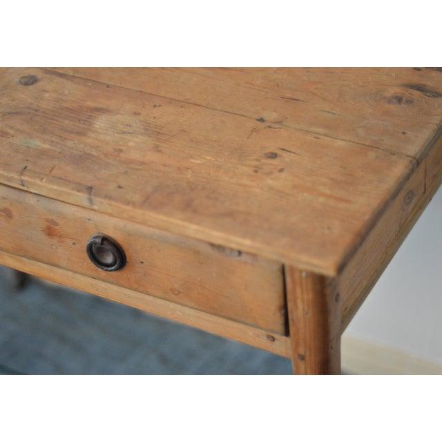 Antique French Farmhouse Pine Desk - Image 6 of 8