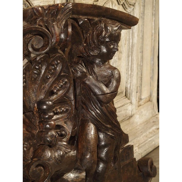 French 18th Century Carved Wooden Overdoor From France For Sale - Image 3 of 13