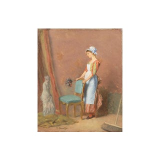 The Contemplation of Beauty by Emile David For Sale