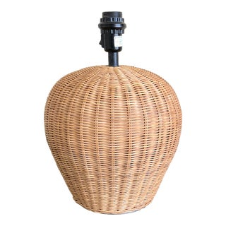 Late 20th Century Natural Wicker Table Lamp For Sale