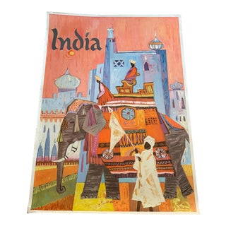 1960s India Travel Poster For Sale
