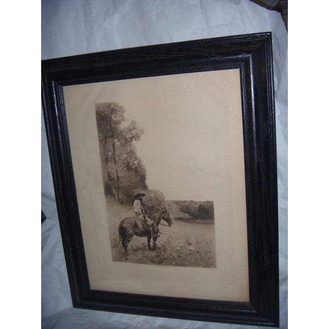 19th-C. Engraving of Man on Horse - Image 4 of 6