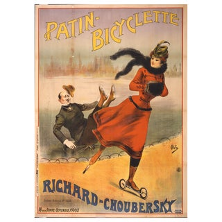 1800s Patin-Bicyclette Print of Ad For Sale