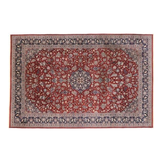 Vintage Persian Tabriz Palace Rug With Jacobean Elizabethan Style - 11'11 X 17'11 For Sale