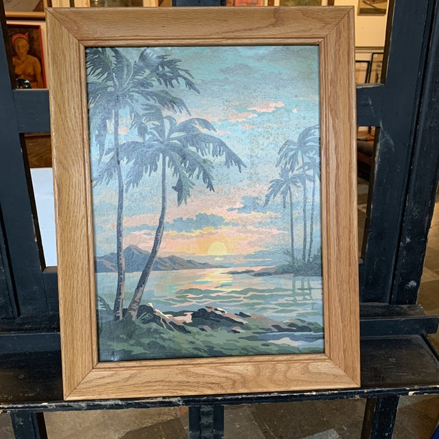 Palm Trees Paint by Numbers in Frame For Sale In Seattle - Image 6 of 6