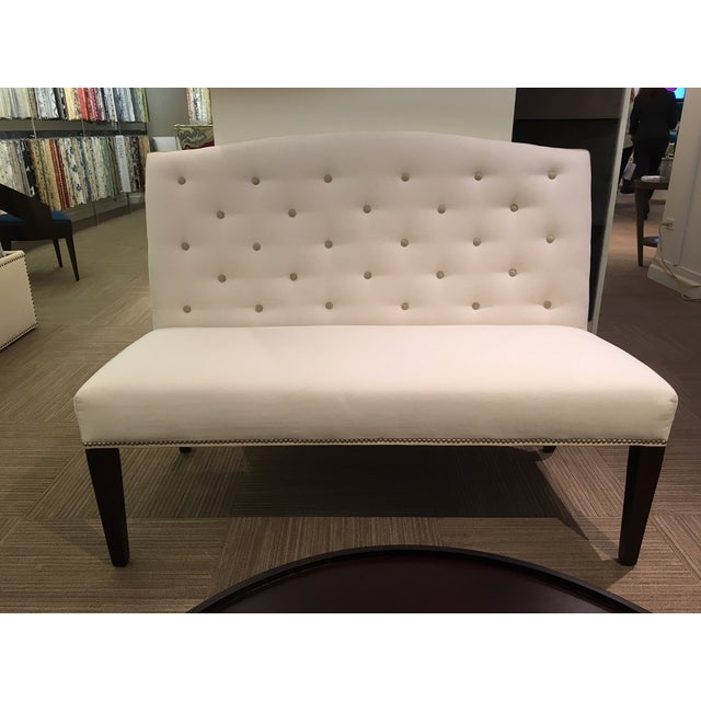 Buttoned Camel Back Banquette - Image 2 of 4