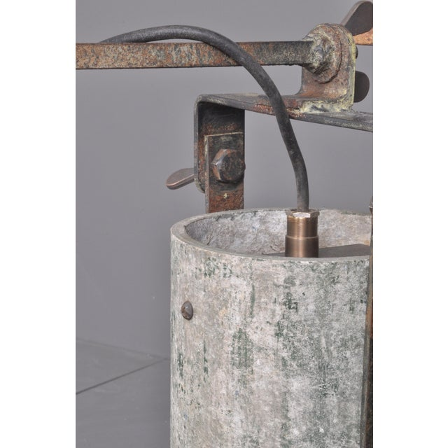 Concrete Outdoor Wall Lamps, Switzerland 1950s For Sale In Boston - Image 6 of 8