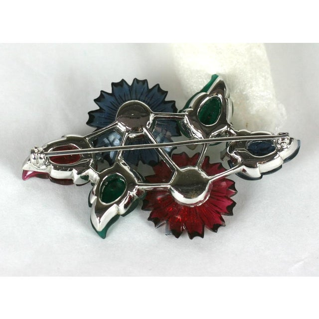 Mazer Floral Fruit Salad Brooch For Sale - Image 4 of 5