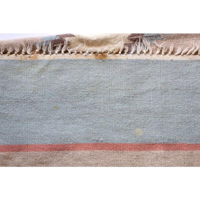 Tan Vintage Mid-Century Navajo Inspired Pastel Rug - 3′8″ × 5′11″ For Sale - Image 8 of 11