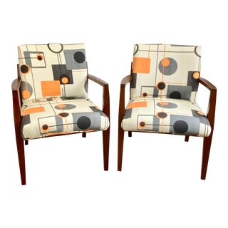 Vintage Mid-Century Modern Teak Lounge Arm Chairs - a Pair For Sale