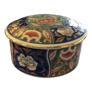 Chinoiserie Trinket Dish With Lid For Sale
