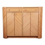 Image of Gabriella Crespi Style Split Reed Rattan Sideboard Cabinet For Sale