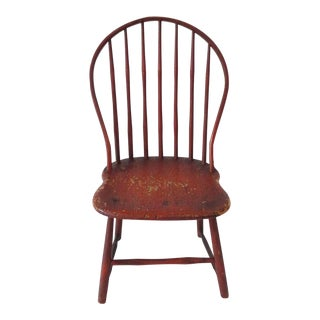 Fantastic Original Salmon Painted 19thc Windsor Chair For Sale