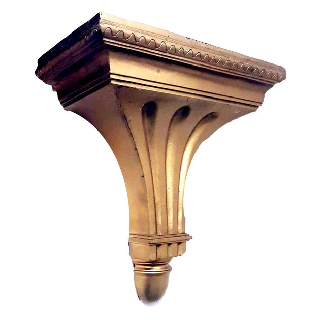 Giltwood Federal Style Giltwood Wall Shelf / Corbel For Sale - Image 7 of 7
